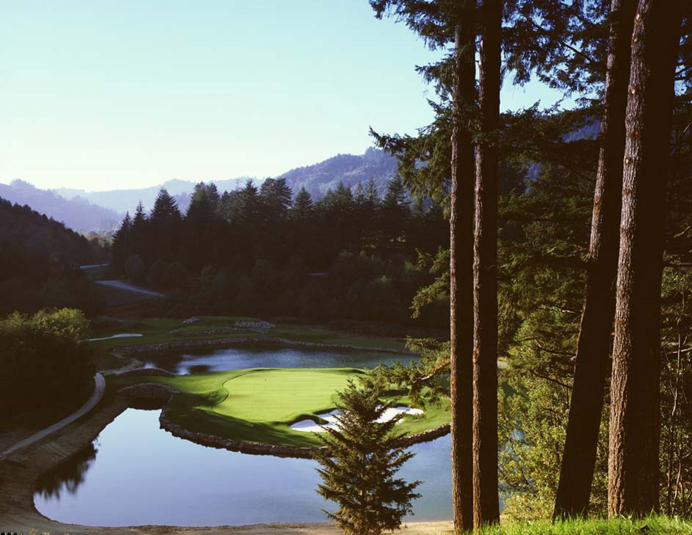 The 4th Green at Salmon Run Golf Course