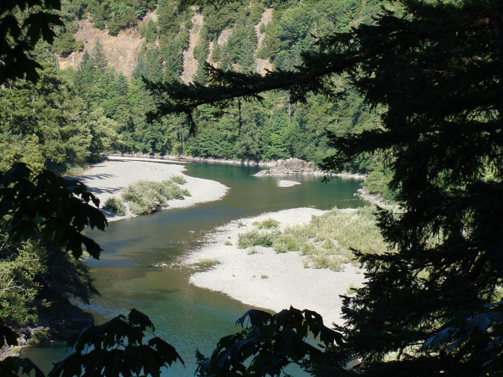 Photo of a stretch of the Chetco River